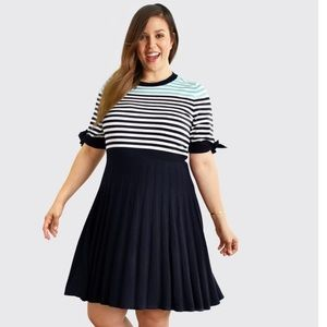 Draper James Sailor Striped Sweater Dress